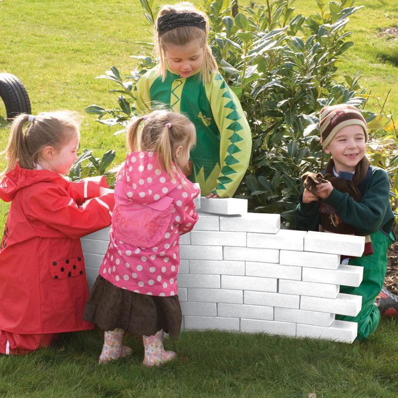 TTS Role Play Foam White Bricks - Pack of 25 - EY00926