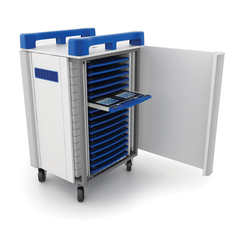 TabCabby 32 Charge & Sync Tablet Charging Trolley with Sliding Drawers - TABCHSYNC