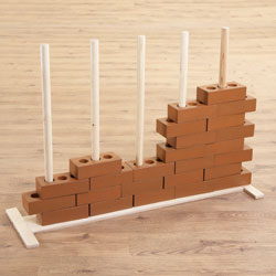 TTS Role Play Wooden House Brick Stand