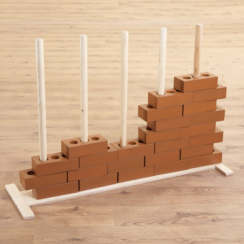 TTS Role Play Wooden House Brick Stand - EY01141