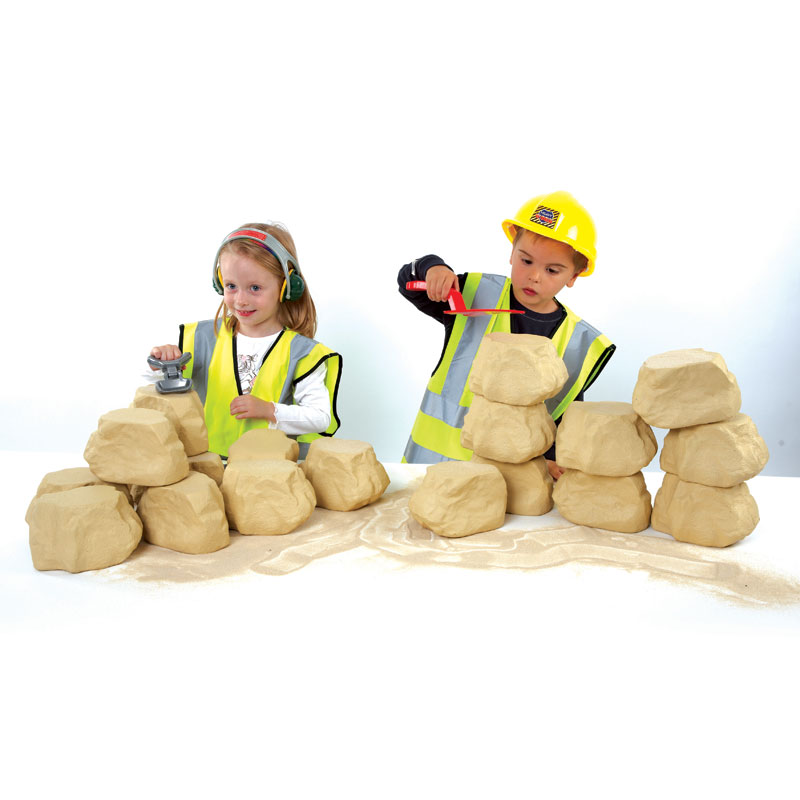 TTS Role Play Foam Stone Wall Bricks - Pack of 25 - EY01169