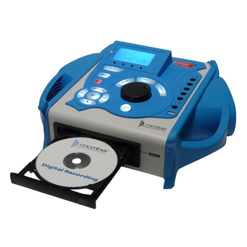 Coomber 43431 Listening Centre in Blue with USB, CD & Phono Audio Inputs - 43431