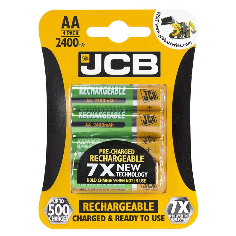 JCB Rechargeable AA Batteries 2400mAh (Pack of 4) - JCB-2400-AA-4