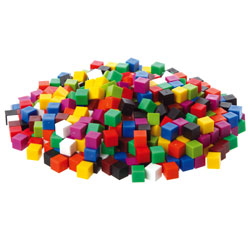 1cm Rainbow Waterproof Cubes - Set of 1000