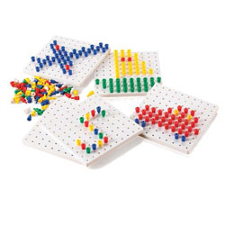 Peg Boards and Pegs - Pack of 5