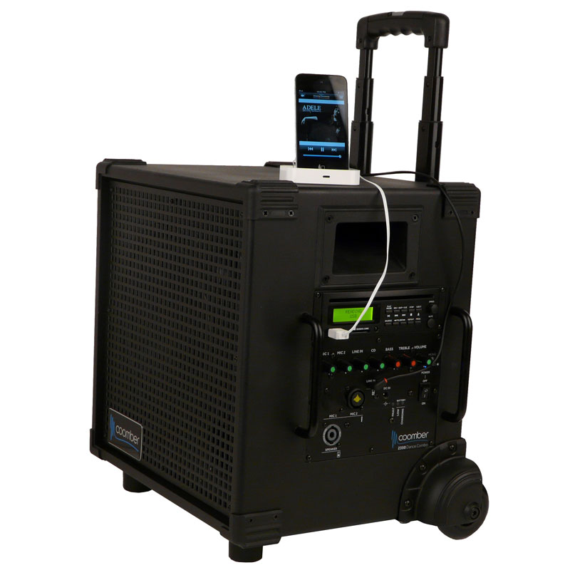 Coomber 45773 Portable Public Address Amplifier with Built-In UHF Receiver - 45773-UHF1