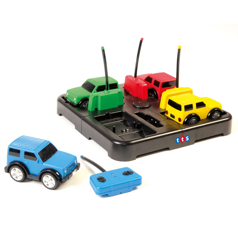 TTS Rugged Racers & Docking Station - Rechargeable Remote Control Cars (Set of 4) - EL00421