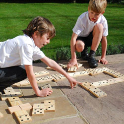 Wooden Dominoes - Set of 28