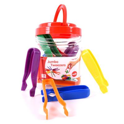 Tweezers in 6 Assorted Colours - Set of 12 - CD75088