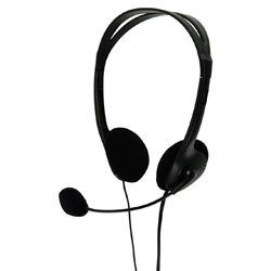 Multimedia Headphones with Flexible Microphone - in Black