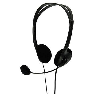Multimedia Headphones with Flexible Microphone - in Black - CHST100BK