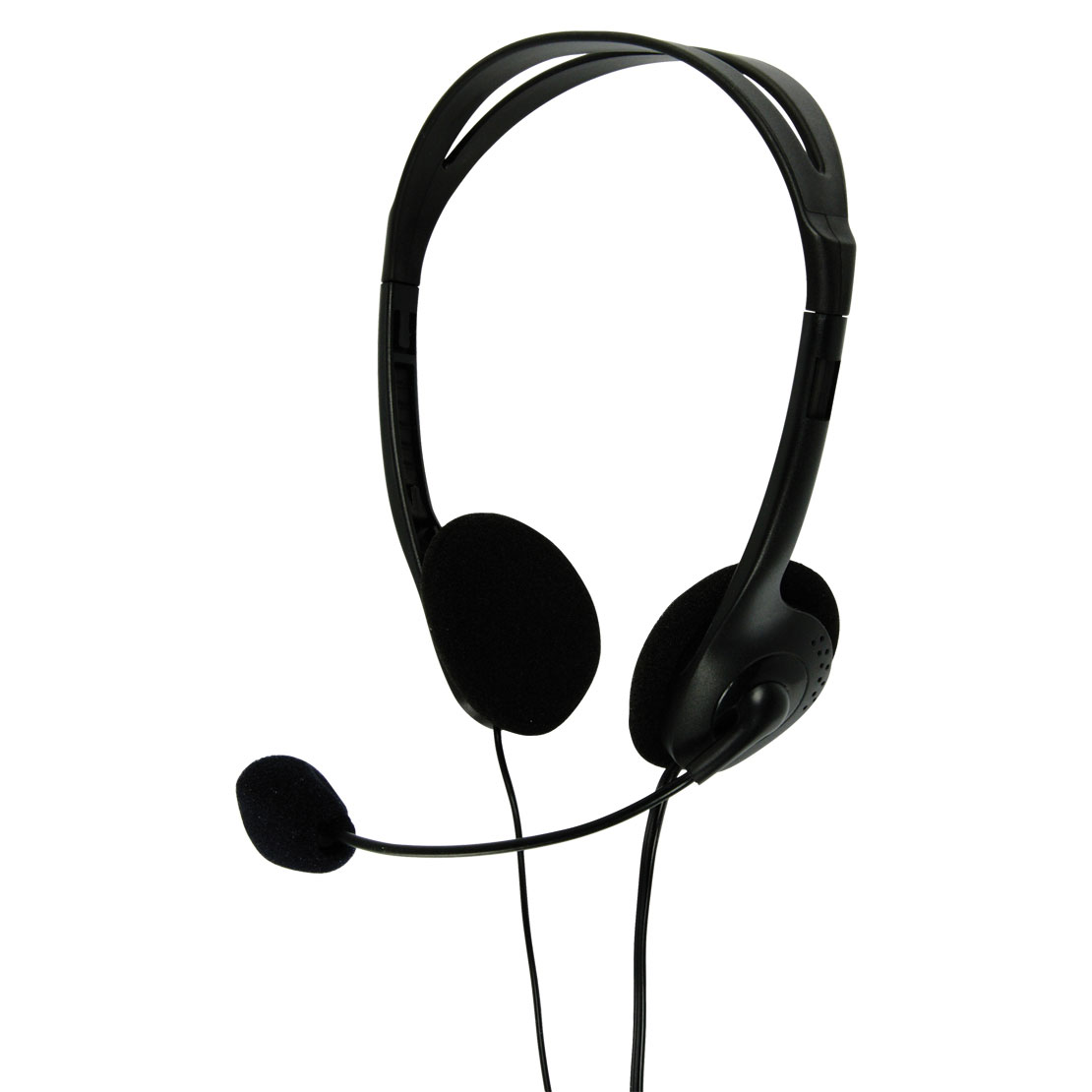 Multimedia Headphones with Flexible Microphone - in Black - CHST100BK