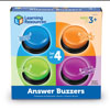 Answer Buzzers (Set of 4) - by Learning Resources - LER3774