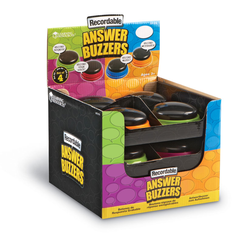 Recordable Answer Buzzers (Set of 12) - by Learning Resources - LER3770