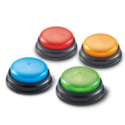 Lights & Sounds Buzzers (Set of 4) - by Learning Resources