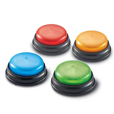 Lights & Sounds Buzzers (Set of 4) - by Learning Resources - LER3776