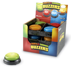 Lights & Sounds Buzzers (Set of 12) - by Learning Resources [LER3779]
