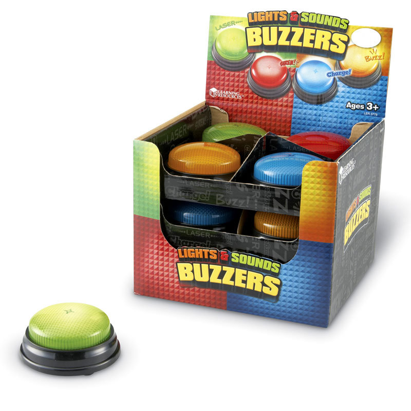 Lights & Sounds Buzzers (Set of 12) - by Learning Resources - LER3779