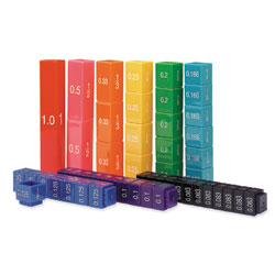 Fraction Tower Cubes Equivalency Set - 51 Piece Set - by Learning Resources