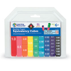 Fraction Tower Cubes Equivalency Set - by Learning Resources [LSP2509-UKM , M-FCUBE , LER2509]