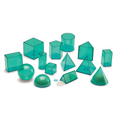 View-Thru Large Geometric Shapes Set - by Learning Resources - Set of 14 [LER3209]