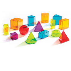 View-Thru Colourful Geometric Geosolids - Set of 14 - by Learning Resources