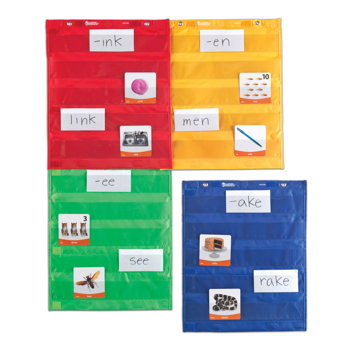 Magnetic pocket chart squares set of 4 by learning resources