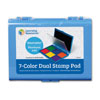 Jumbo 7-Colour Washable Ink Stamp Pad - by Learning Resources - LER4275
