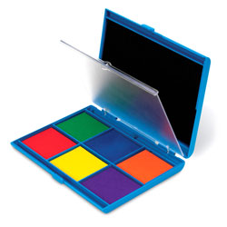 Jumbo 7-Colour Washable Ink Stamp Pad - by Learning Resources