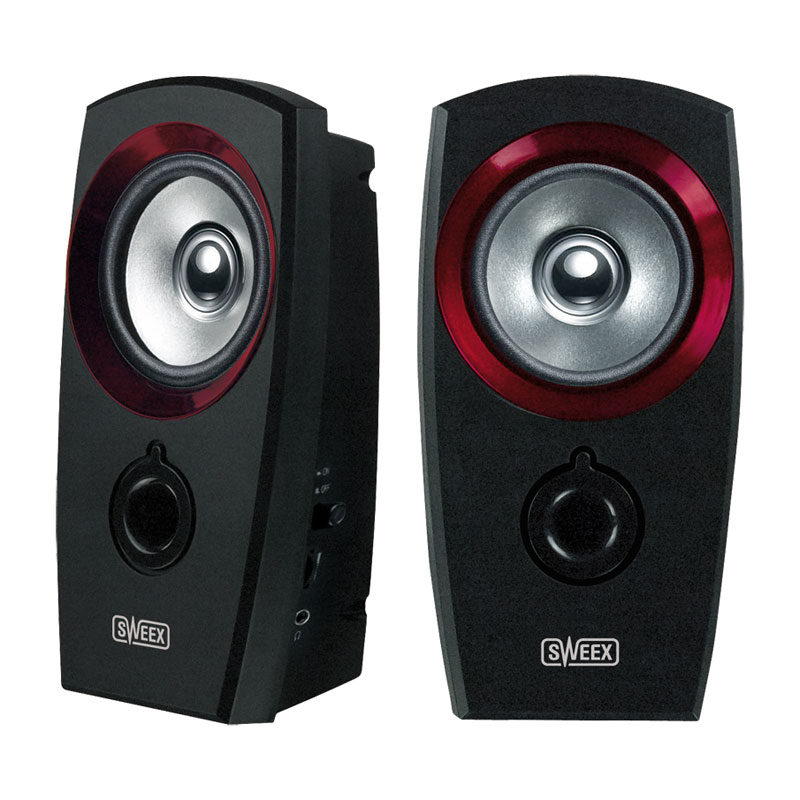 Sweex 2.0 Speaker Set USB Powered - with Volume Control & Headphone Socket - SP041