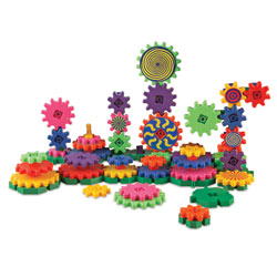 Gears! Gears! Gears! Wacky Factory Building Set - 128 Pieces - by Learning Resources