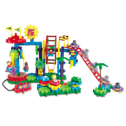 Gears! Gears! Gears! Dizzy Fun Land Motorised Set - 120 Pieces - by Learning Resources [LER9199]