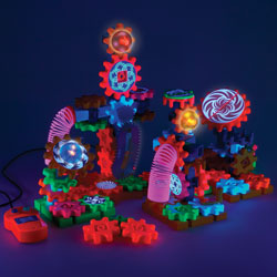 Gears! Gears! Gears! Lights & Action Motorised Set - 121 Pieces - by Learning Resources [LER9209]
