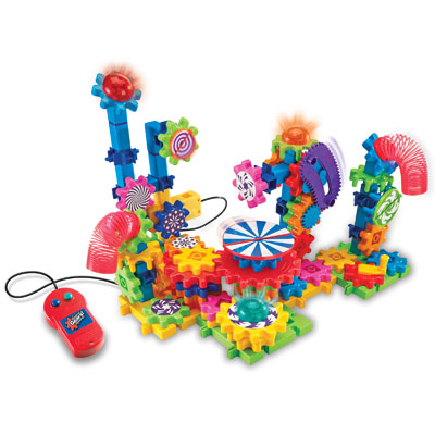 Gears! Gears! Gears! Lights & Action Motorised Set - 121 Pieces - by Learning Resources - LER9209