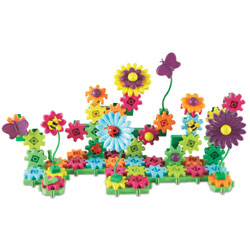 Gears! Gears! Gears! Build and Bloom Flower Garden - 116 Pieces - by Learning Resources