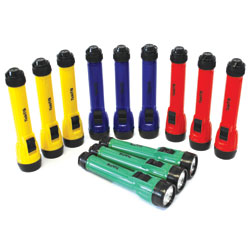 Classroom Torch Rechargeable Bundle - Set of 12 Torches - including 2x Battery Chargers and 24x Batteries