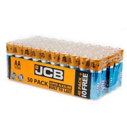 JCB Super Alkaline Ultra AA Batteries (Box of 50)