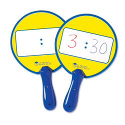 Dual Sided Wipe-Clean Clock Boards (Set of 5) - by Learning Resources [LER0648]