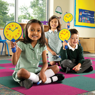 Dual Sided Wipe-Clean Clock Boards - Set of 5 - by Learning Resources - LER0648