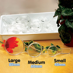 Small Magnifier with Dual Magnification - Lens Diameter 45mm - (Pack of 30)