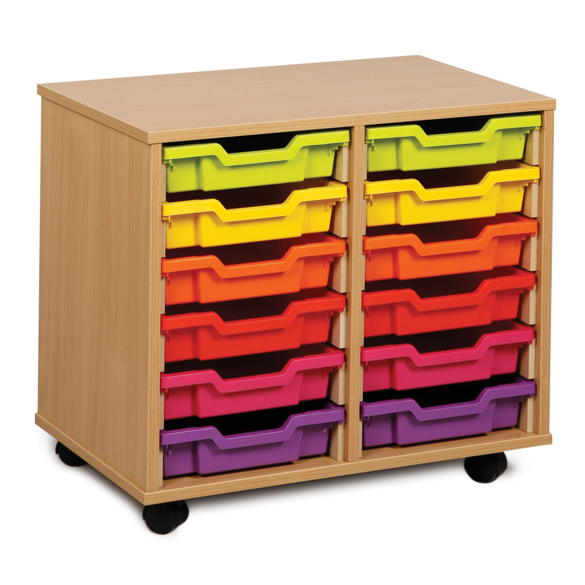 12 shallow tray storage unit meq2w buy at primary ict. Black Bedroom Furniture Sets. Home Design Ideas