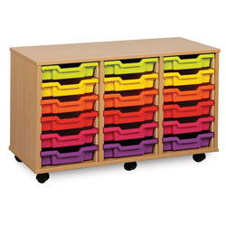 18 Shallow Tray Storage Unit