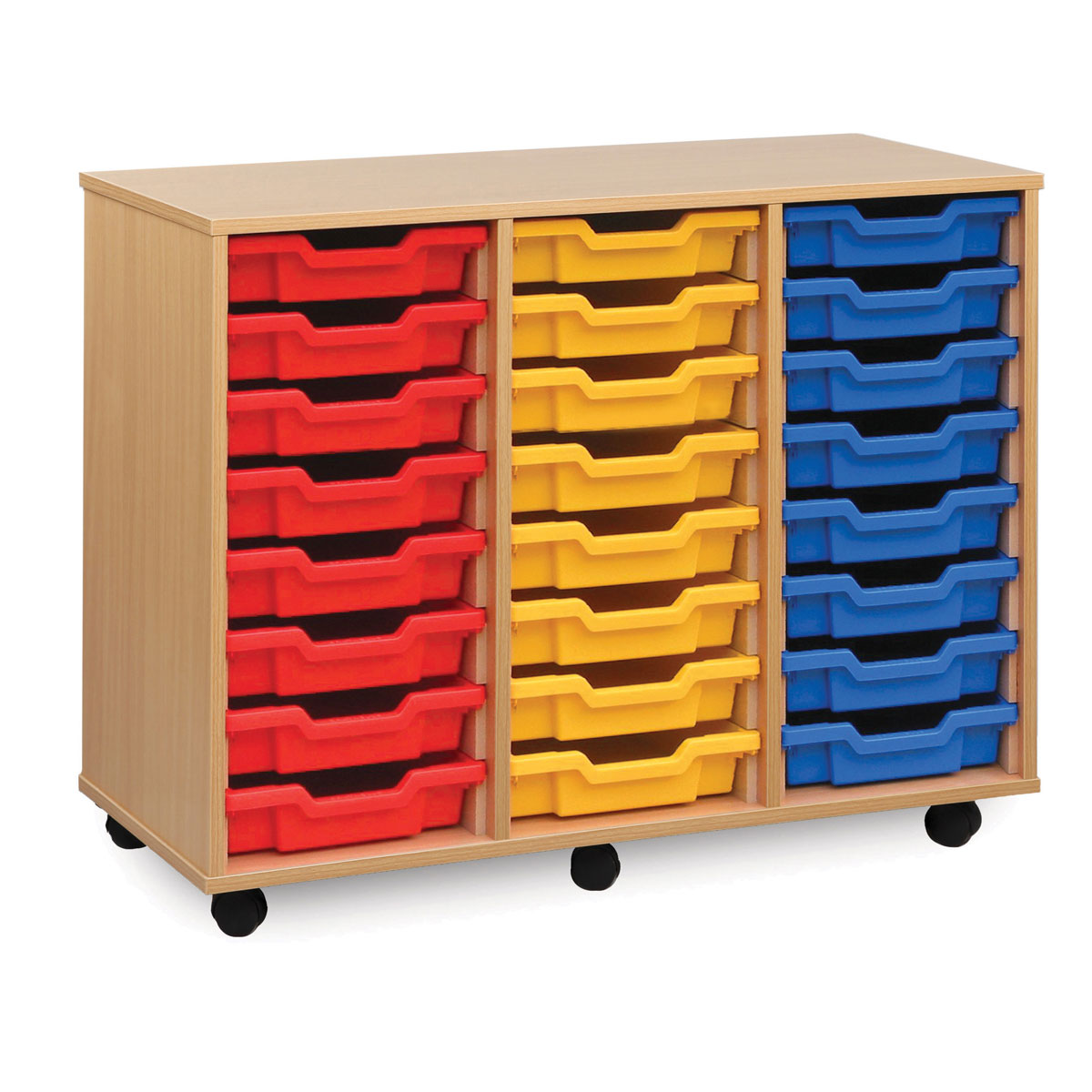 24 shallow tray storage unit meq4w buy at primary ict for Shallow shelving unit