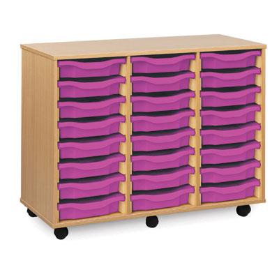 24 Shallow Tray Storage Unit - MEQ4W