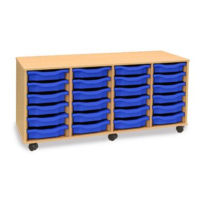 24 Shallow Tray Storage Unit - MEQ24W