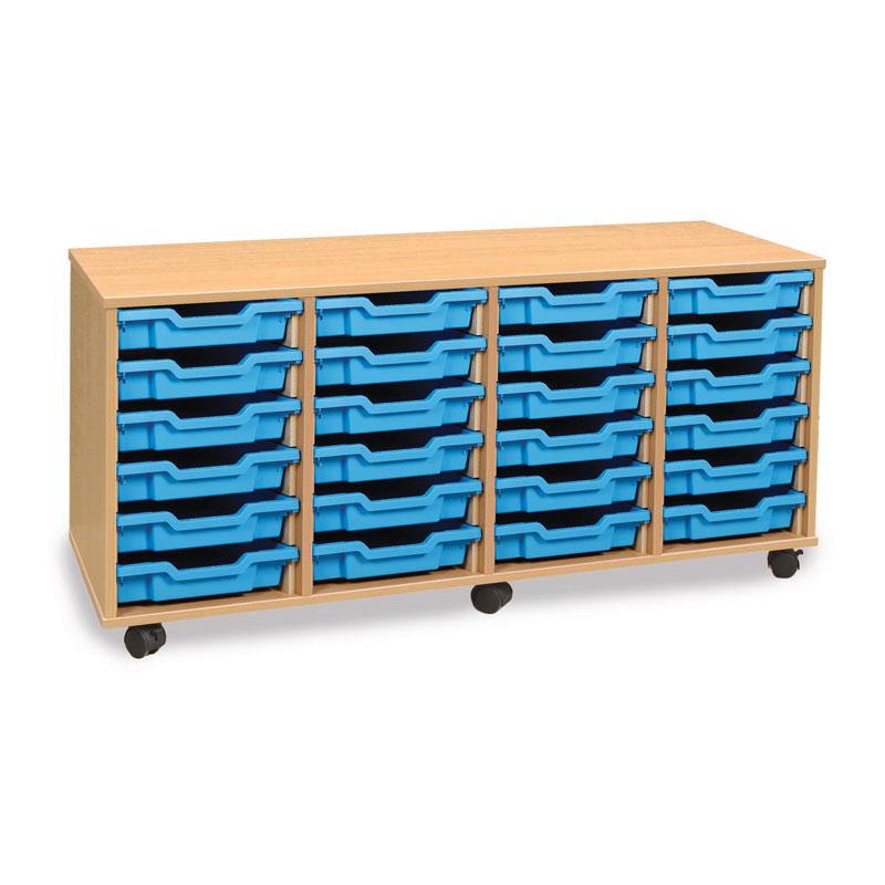24 Shallow Tray Storage Unit - MEQ24W