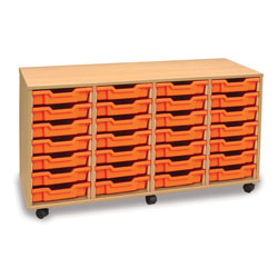 28 Shallow Tray Storage Unit