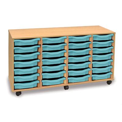 28 Shallow Tray Storage Unit - MEQ28W