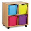 4 Jumbo Tray Storage Unit - MEQ04J