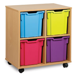 4 Jumbo Tray Storage Unit
